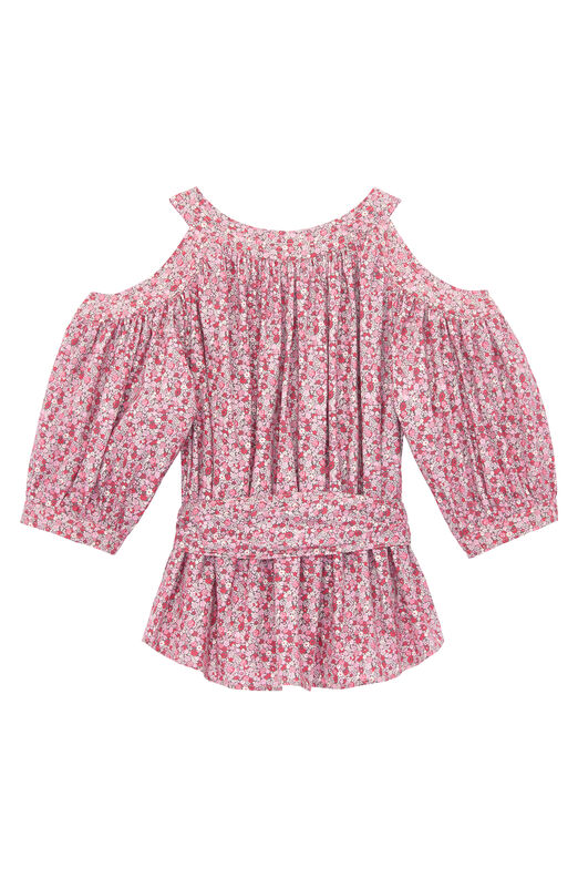 La Vie Petite Rose Open Shoulder Top