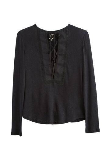 La Vie Textured Jersey Top