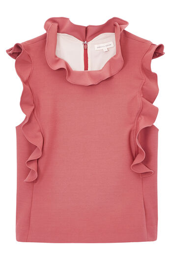 Stretch Suiting Ruffle Top