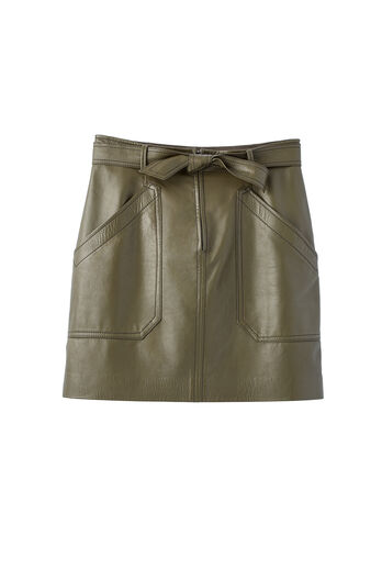 Tumbled Leather Skirt