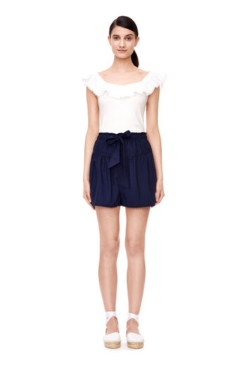 La Vie Washed Poplin Short - Navy