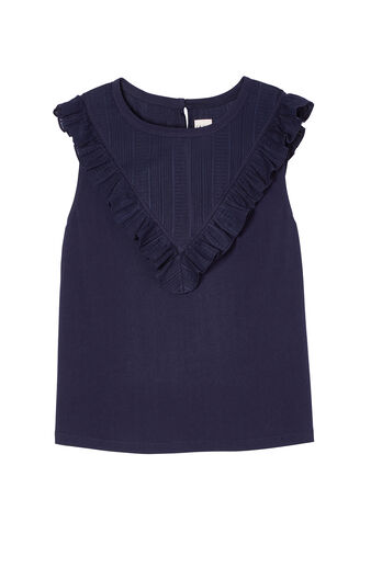La Vie Ruffled Jersey Top