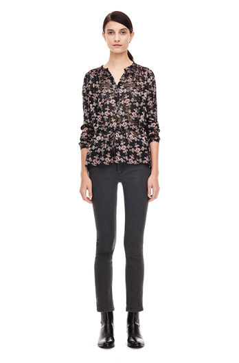 Shadow Floral Top - Black Combo