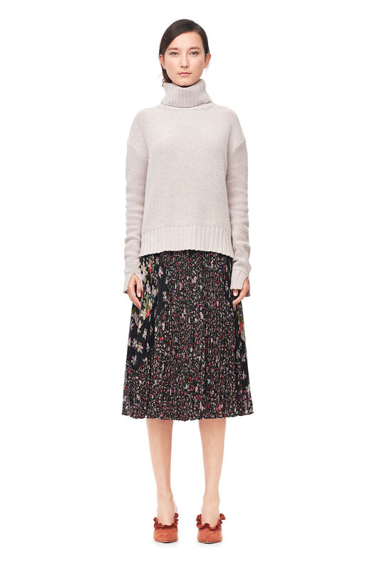 Luxe Wool Turtleneck Pullover - Marble
