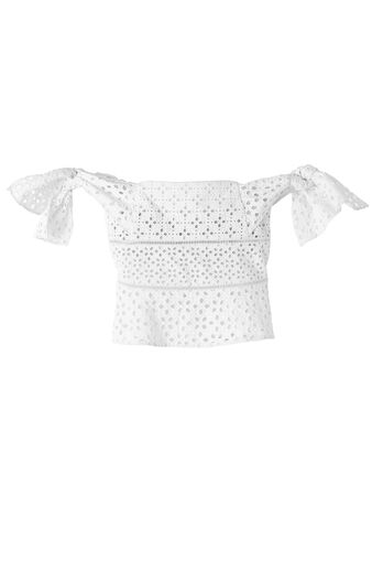 Off-The-Shoulder Amora Eyelet Top