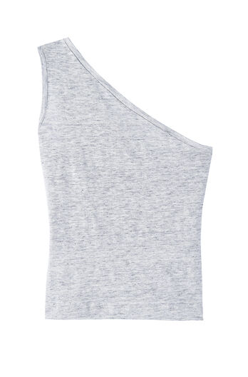 One Shoulder Linen Jersey Tee