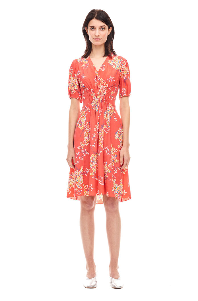 Phlox V-Neck Dress - Ladybug