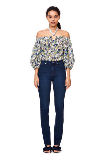 La Vie Off-The-Shoulder Suzette Floral Top - Soleil Combo