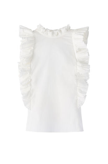 Poplin Pleated Top