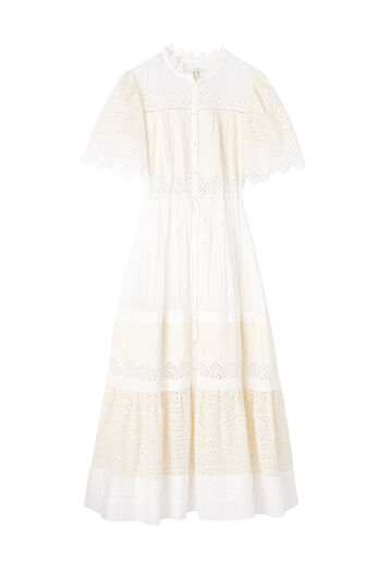 La Vie Embroidered Voile Dress