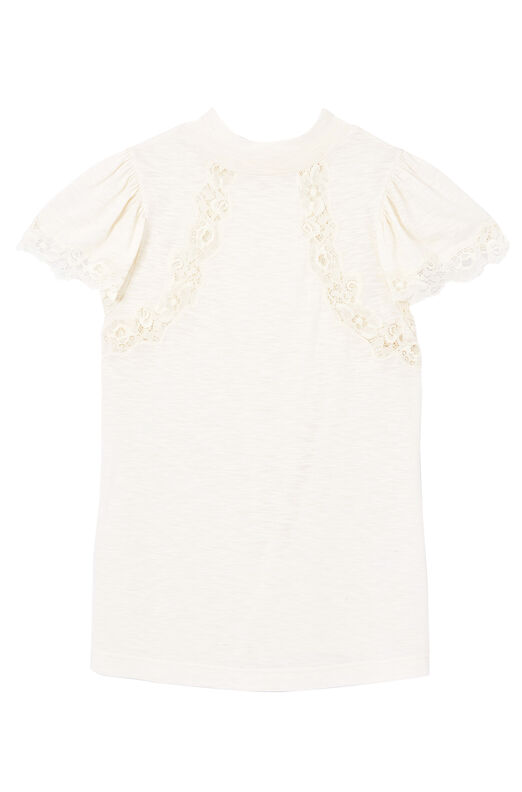 Jersey & Lace Top