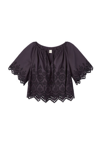 La Vie Annabel Eyelet Top