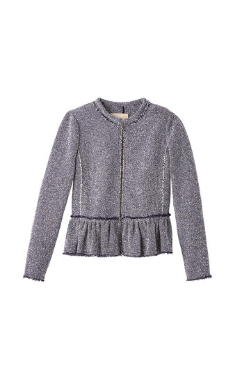Stretch Tweed Peplum Jacket