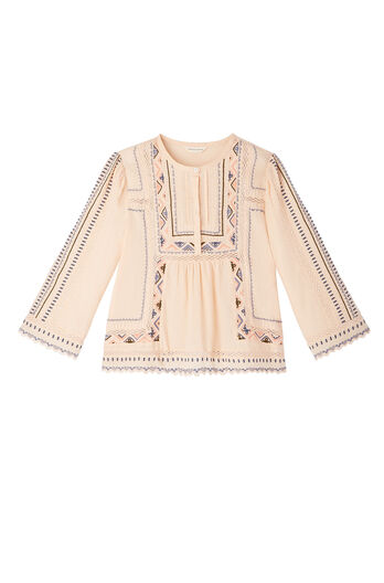 Long Sleeve Esme Embroidered Top