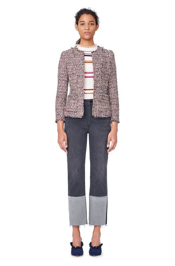 Multi Tweed Jacket - Pink Combo