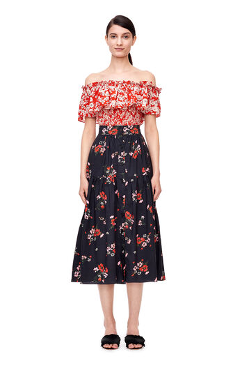 Off-The-Shoulder Cherry Blossom Top - Candy Apple Combo
