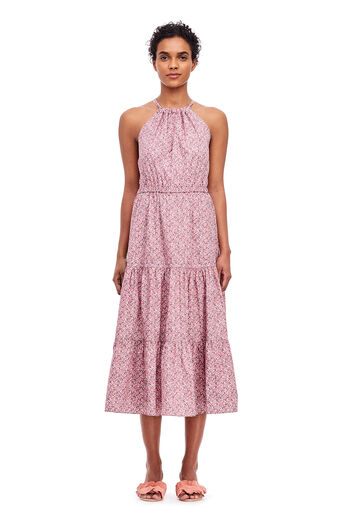 La Vie Meadow Floral Dress - Rose Claire