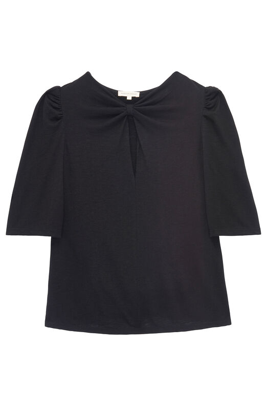 Knot Neck Jersey Top