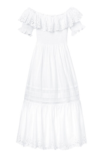 Off-The-Shoulder Nouveau Eyelet Dress
