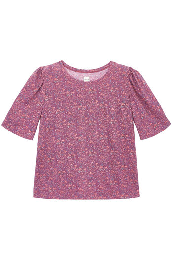 La Vie Brittany Floral Jersey Tee