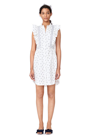 La Vie Breeze Print Dress - Milk Combo