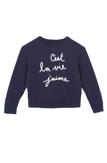La Vie Embroidered Sweatshirt
