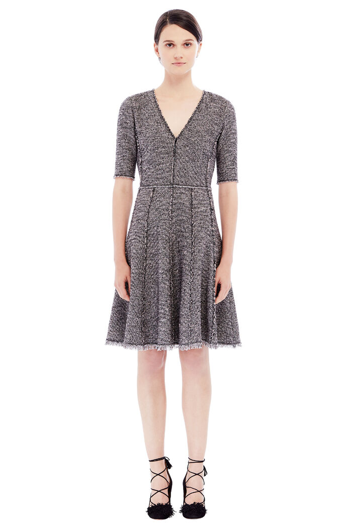 Stretch Boucle Tweed Dress