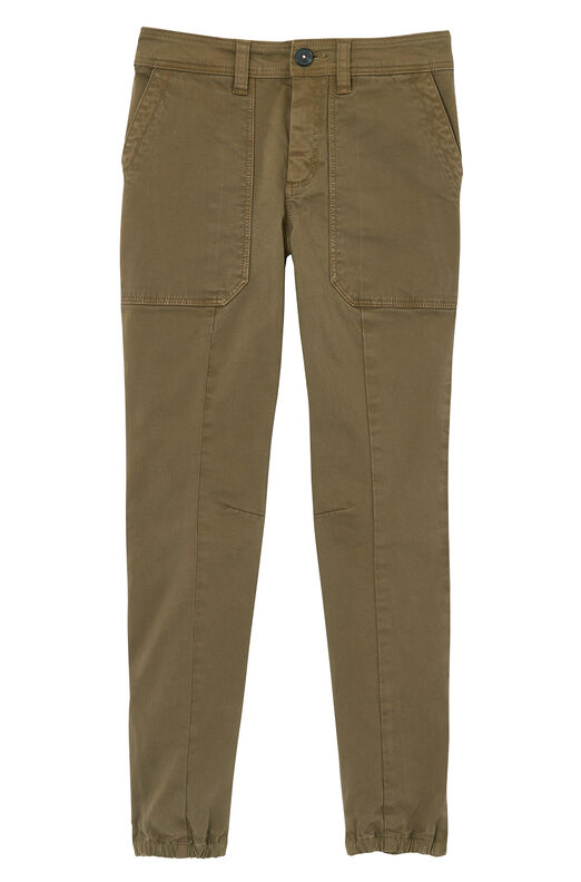 La Vie Brushed Stretch Twill Jogger