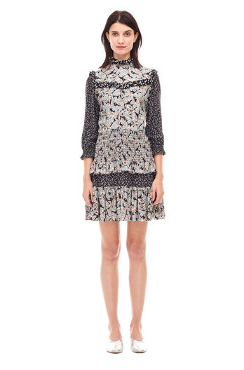 Bijou Patchwork Dress - Glacier Combo