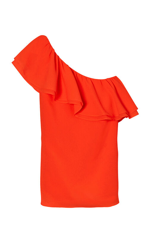 One-Shoulder Silk Top