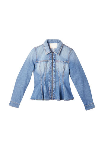 Denim Peplum Jacket
