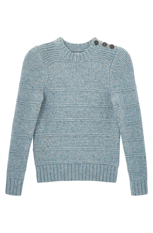 La Vie Donegal Tweed Ribbed Pullover