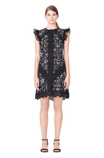 Moonflower Embroidered Dress - Black Combo