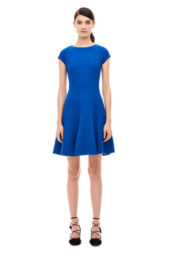 Diamond Texture Dress - Royal Blue