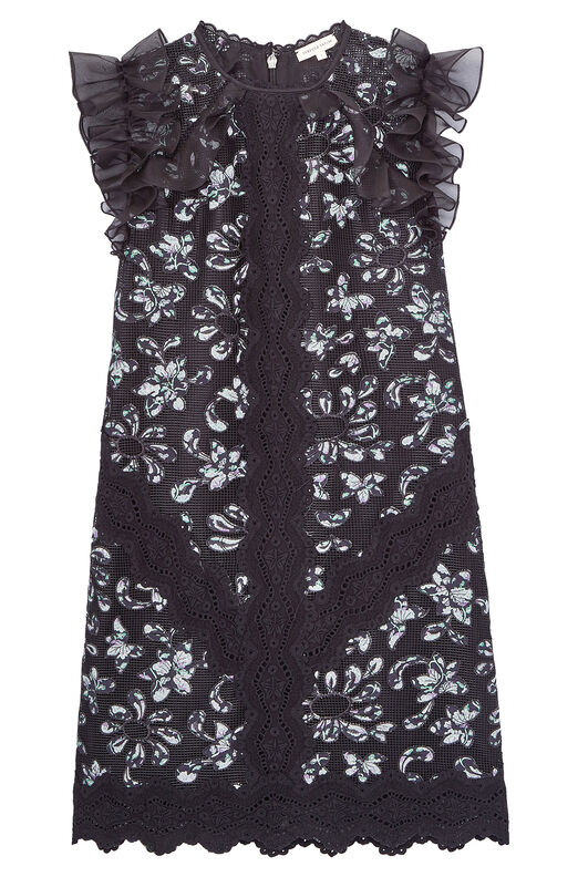 Moonflower Embroidered Dress