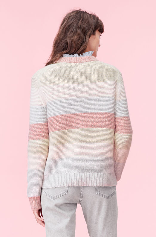 La Vie Striped Merino Pullover