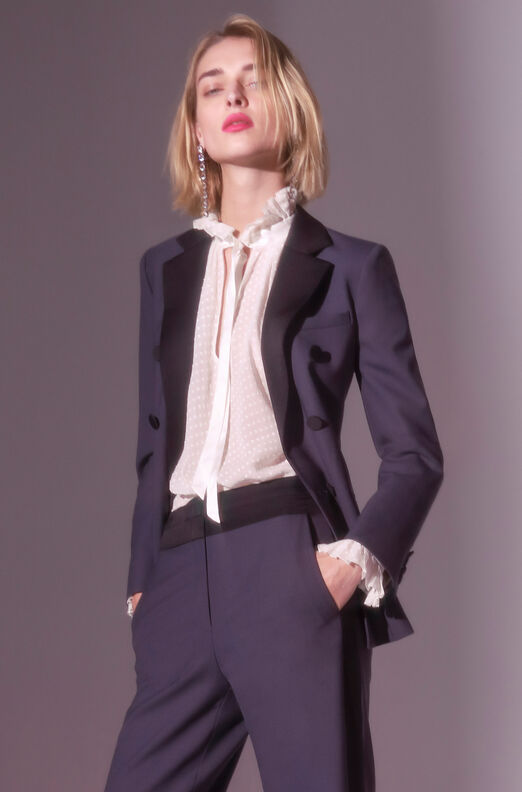 Tailored Gabardine Suiting Blazer