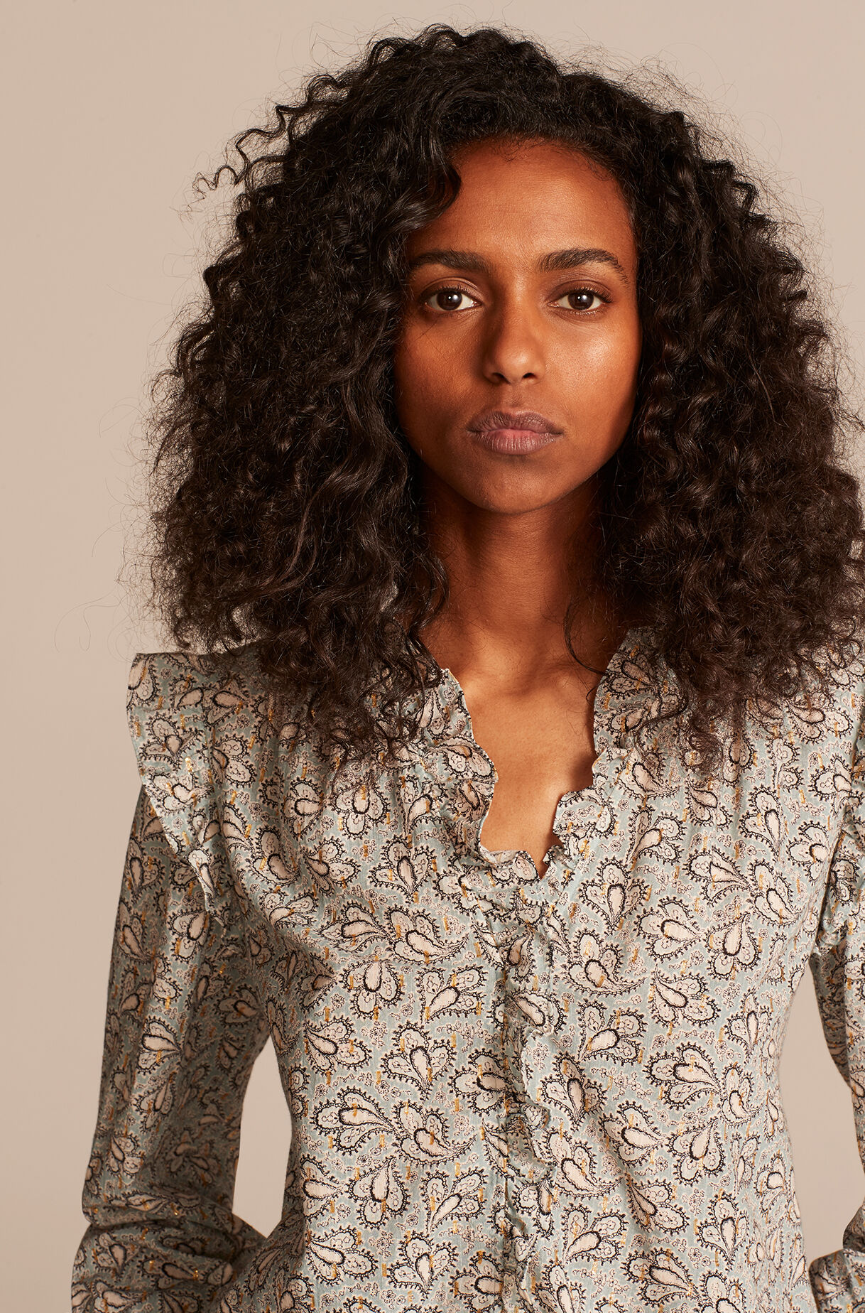 Odette Paisley Top, , large