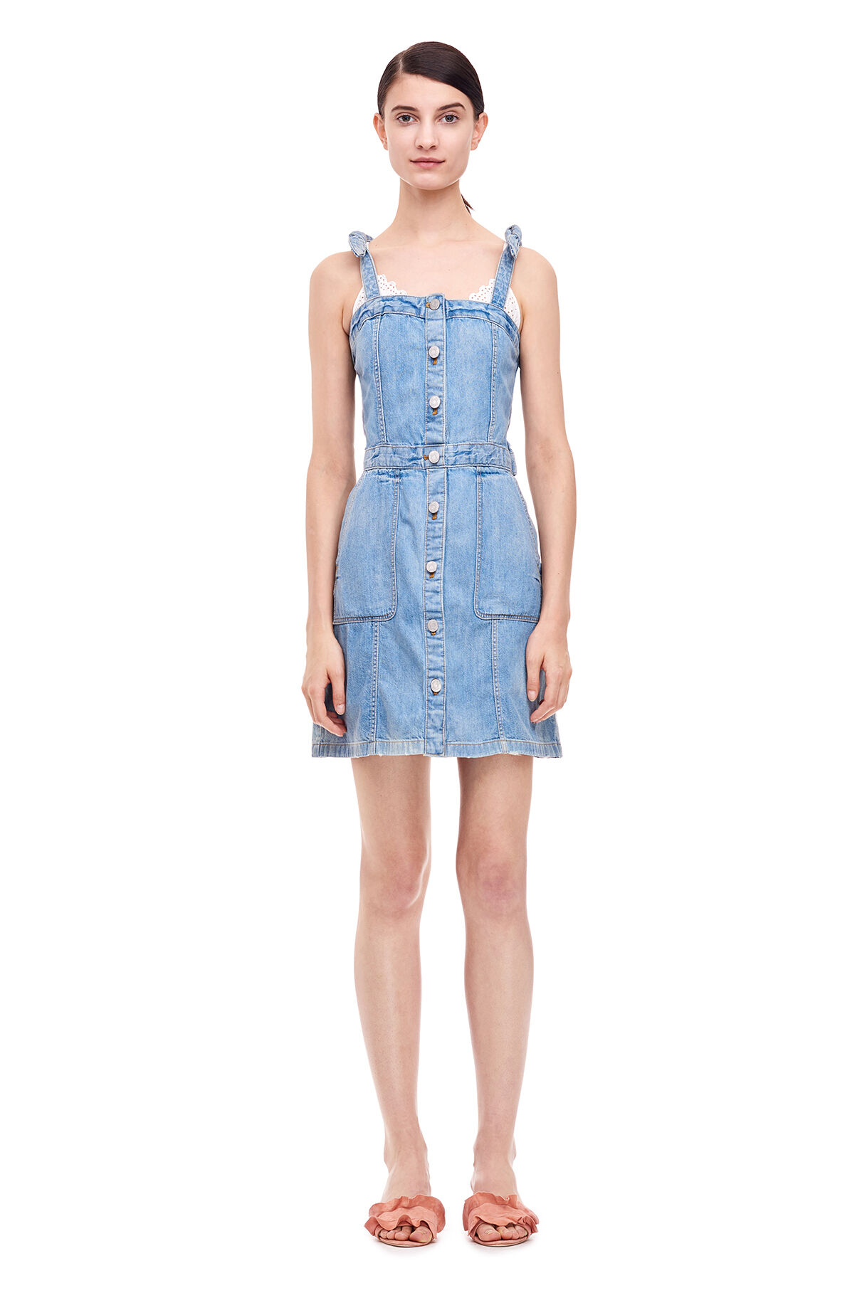 32ec3b7be90 La Vie Drapey Denim Dress ...
