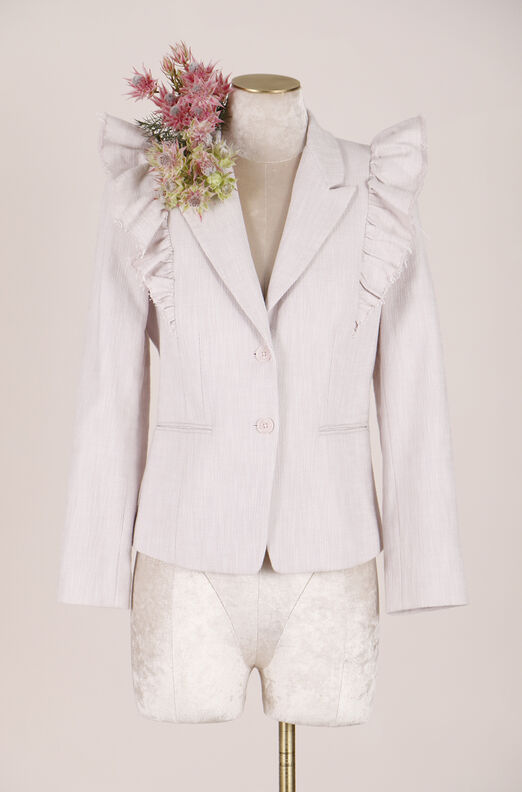 ReCollect Slub Suiting Ruffle Jacket