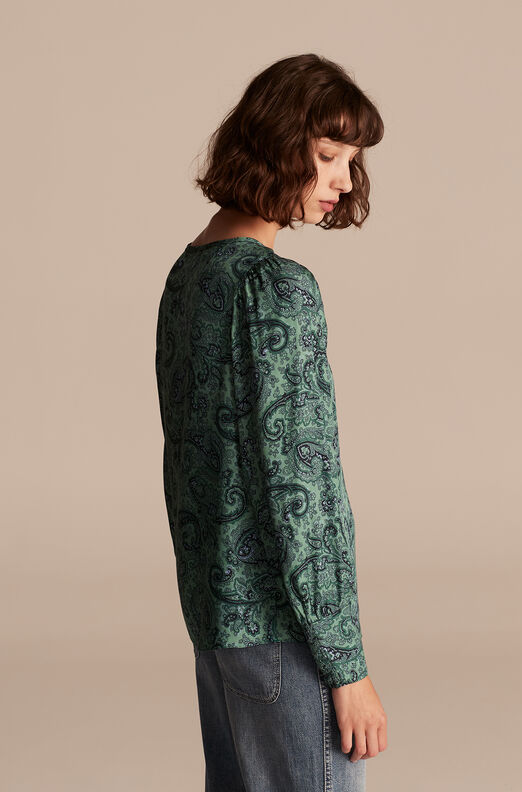 Tailored Margaux Paisley Top, Jade Combo, large