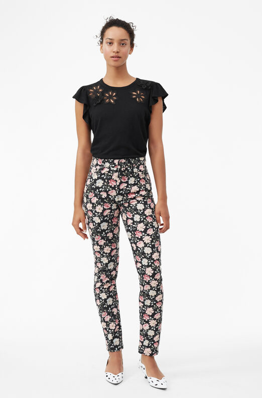 Emilie Embroidered Jersey Top