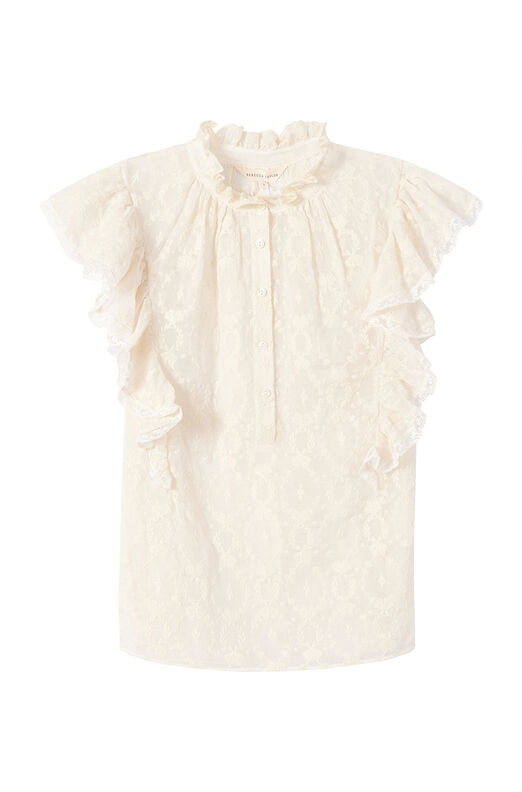 Lily Embroidered Ruffle Top