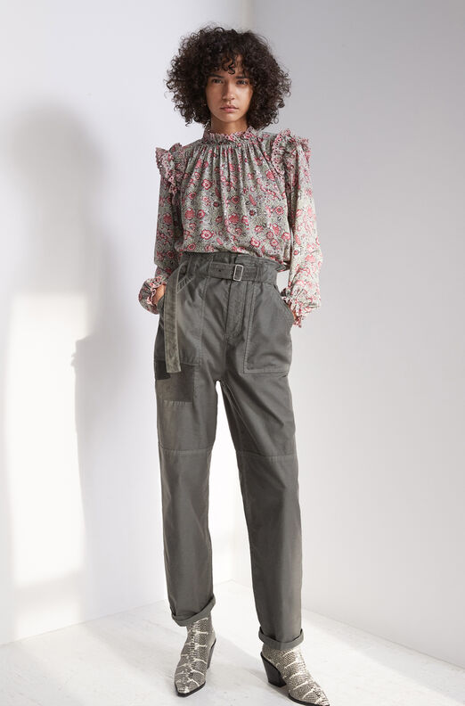La Vie Twill Pant With Velvet