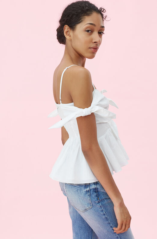 Off-The-Shoulder Cotton Bow Top