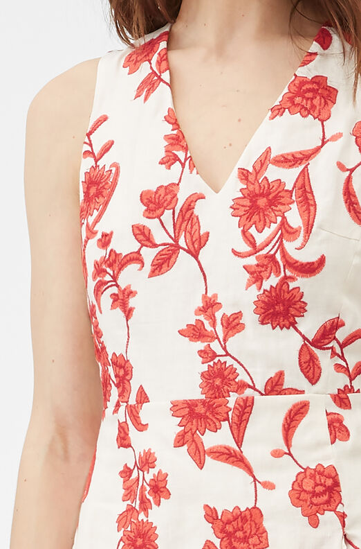 Scarlet Embroidered Wrap Dress