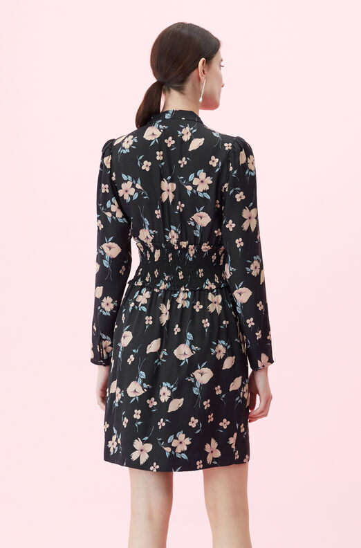 Daniella Floral V-Neck Dress