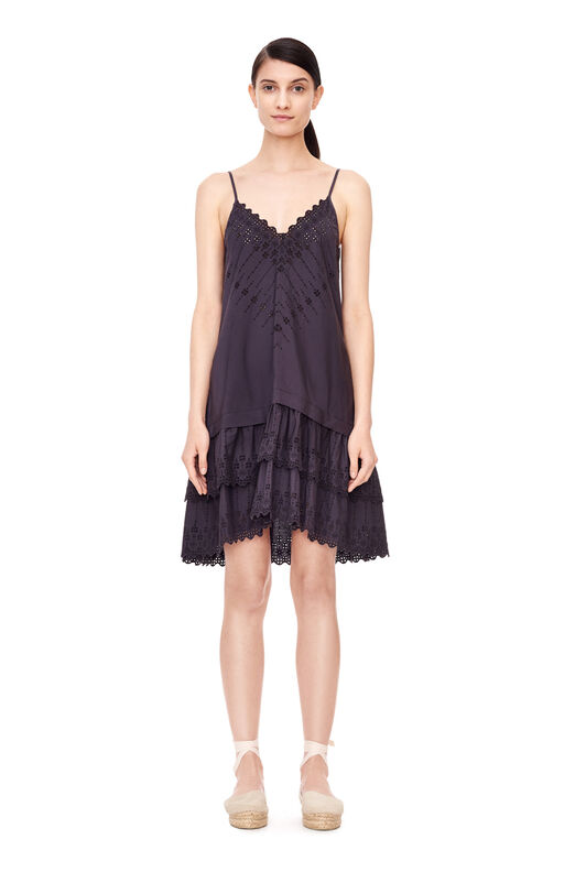 La Vie Alice Eyelet Dress - Washed Black