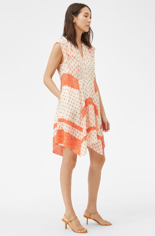 Block Print Mix Dress
