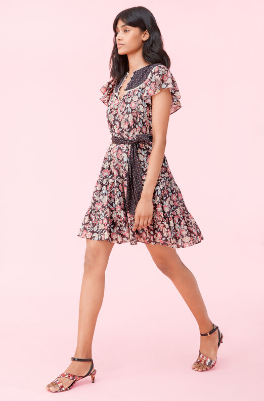 La Vie Print Mix Dress